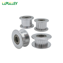 LUPULLEY GT2 20T Idler Pulley with Bearing 2GT 16T synchronous Pulley Idler Wheel Bore 3mm 4mm 5mm for GT2 Timing belt Width 6mm
