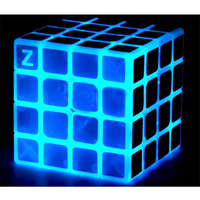 Z Cube Glow In Dark Magic Cube Puzzle Toy Luminous Blue Magic Cube Noctilucous Kids Educational