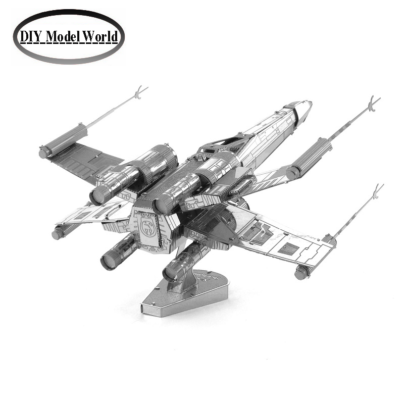 X-wing Star Fightermodel laser cutting 3D puzzle DIY metal spacecraft jigsaw free shipping Star war model birthday gifts metal puzzle diy 5pcs set tank model 3d model jigsaw metal scorpio tank tiger tank 3d model toy puzzle educational toys