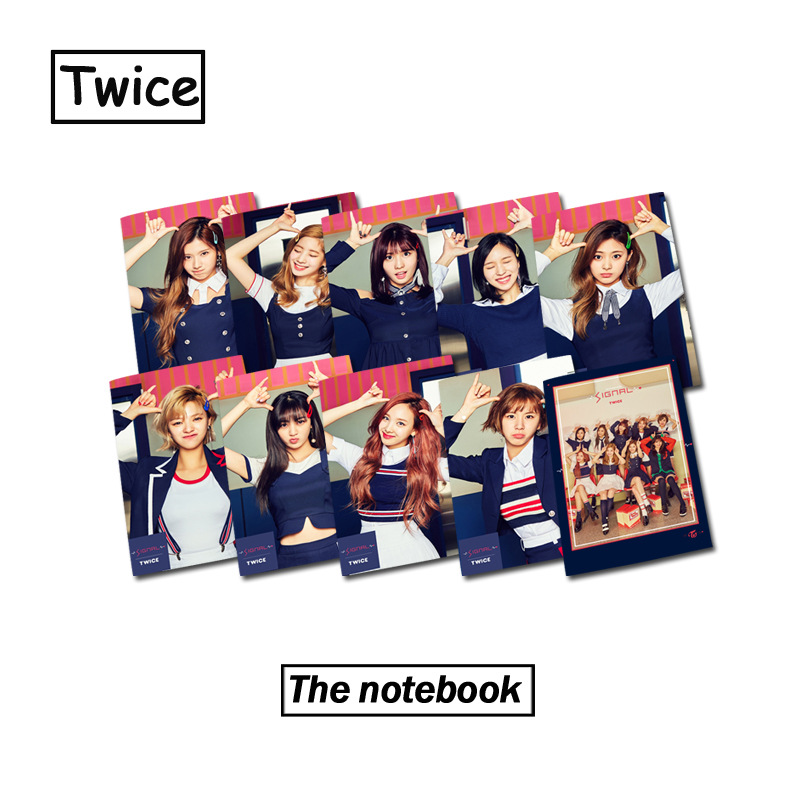 [MYKPOP]TWICE SIGNAL Photo Exercise Book Lined Big Study Notebook Workbook Diary Noteboo ...