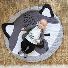 95 cm zorro madre cuidado estera del juego del bebé manta de bebé de invierno los niños jugar en el suelo estera de viaje redondo carpet