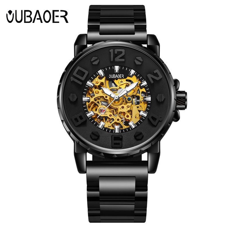 OUBAOER Top Brand Luxury Men's Watches Men Casual Military Business Clock Male Clocks Sport  Mechanical Wrist Watch Men