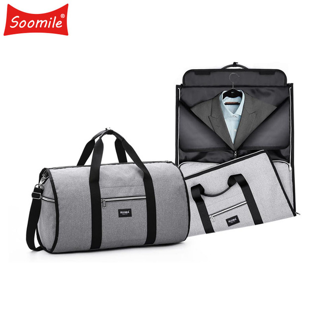 9451385a27 2018 new luxury duffel bags 2 in 1 Busines travel duffel bag men garment bag  for