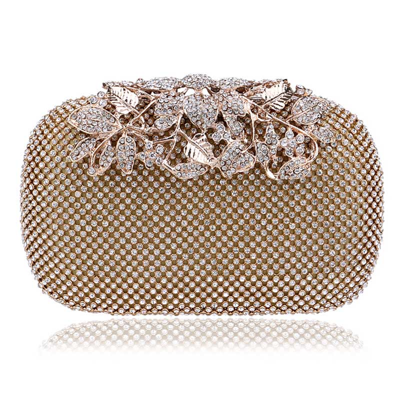 Purse Rhinestones Shoulder-Bag Evening-Bags Mini Diamonds for Lady Crown