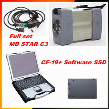 A+mb star c3 with software 160gb ssd super speed  with 5 cables laptop cf- 19  with battery diagnostic