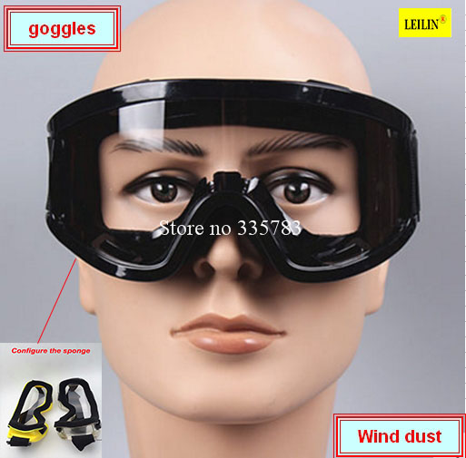 цена на Sponge frame Safety Supplies Eyes Protection Clear Protective Glasses Wind and Dust Anti-fog Lab Medical Use Safety Goggles