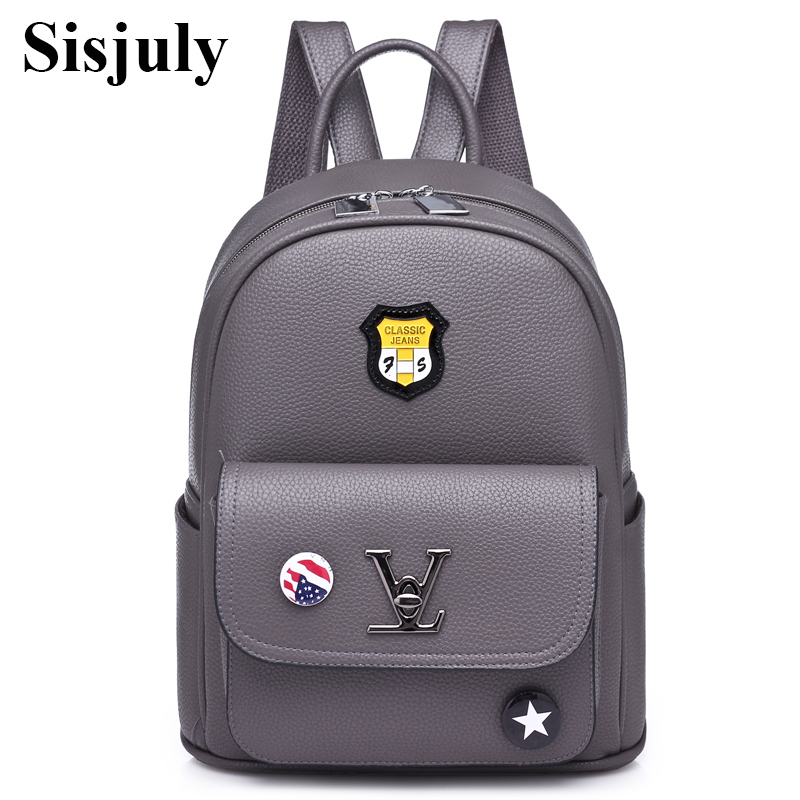 Sisjuly Women Backpack Hot Sale Fashion Causal Bagpack High Quality female School Bags PU Leather Backpacks for Teenage Girls