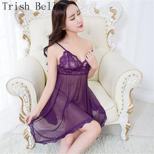 Ultrathin transparent Lace Camisole Pajamas Buttocks Backless Dew sexy lingerie erotic underwear lenceria langerie babydoll