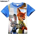 5PCS/LOT Wholesale Boys Girls Zootopia Tshirt Cotton Cartoon Tees Kids t-Shirt Kids Tops Roupas Infantis Menino Tee Shirt Garcon