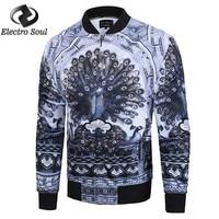 2018 New Spring Suit Men Jacket Male Europe Tide Brand 3D Brand Men's Jacket Printed Stand Collar Jacket Men Casual
