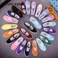 Nuevas Mujeres Atan para arriba Los Zapatos de Lona zapatos casuales marca de Moda Pisos Sólidos Mujeres Transpirable mujer zapatos de Envío de La Gota ST40