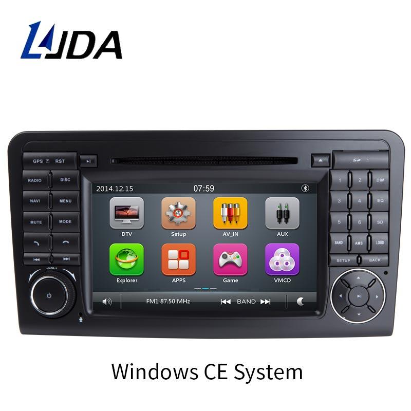 LJDA 2 din 7 Inch Car DVD Player for Mercedes Benz ML CLASS W164 ML300 ML350 ML450 ML500 GPS Navi Bluetooth TV Radio RDS AUX MAP