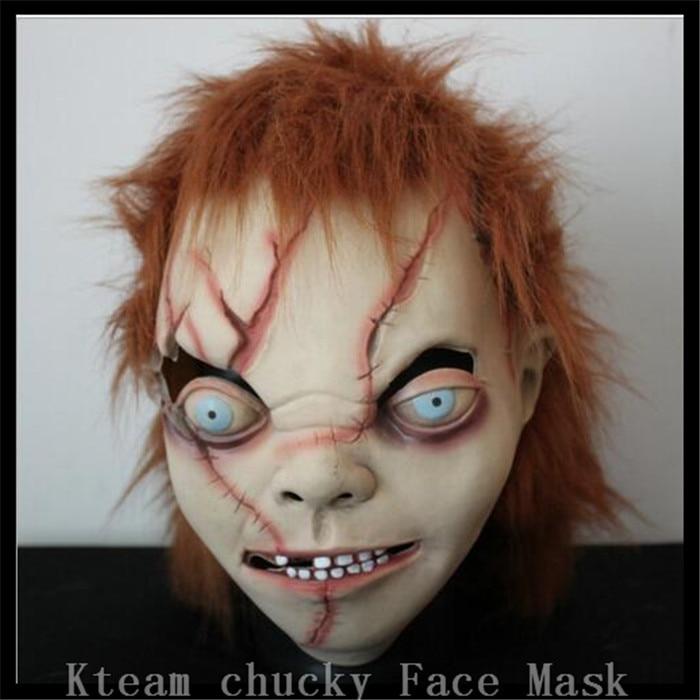 Doprava zdarma Vysoce kvalitní Halloween Party Creepy Scary CHUCKY Mask Latex Full Head dospělý kostým Scy Boy maska velikosti zdarma Hračky