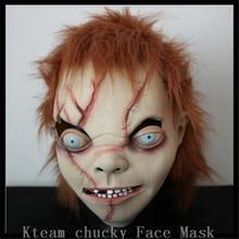 Free shipping High Quality Halloween Party Creepy Scary CHUCKY Mask Latex Full Head Adult Costume Scy Boy Mask Free size Toys
