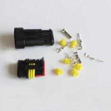 10 компл. комплект 3 Булавки способ AMP супер печать Водонепроницаемый электрические Провода разъем HID розетка