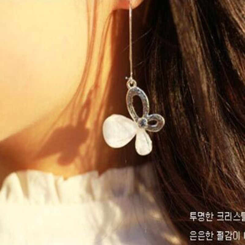 high quality Valentine's day gift silver plated rose bow earrings  wholesale fashion jewelry