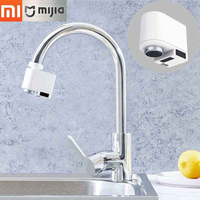 New 2019 Xiaomi Smart Sensor Faucets Infrared Sensor Automatic Water Saver Tap Anti-overflow Kitchen Bathroom Inductive Faucet