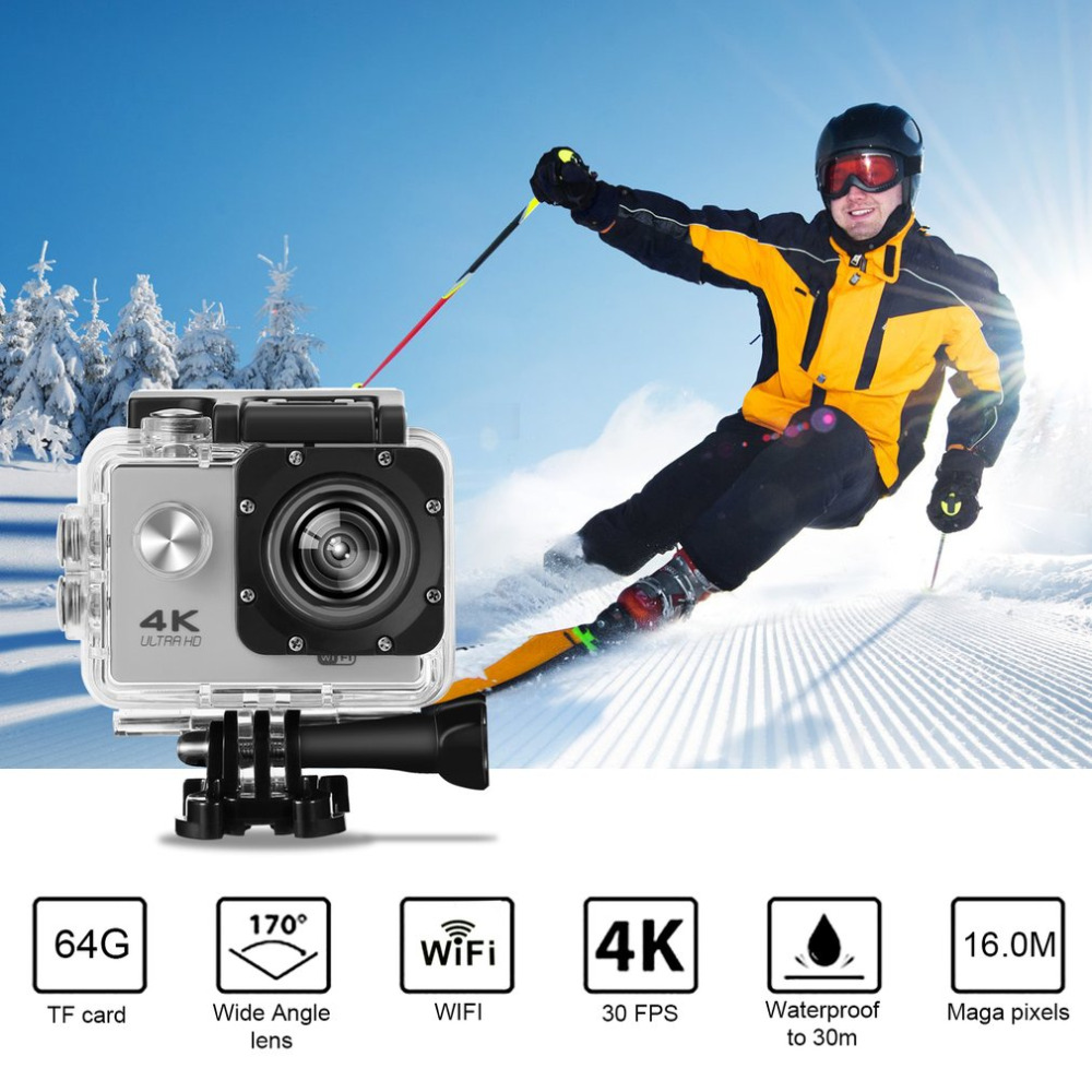 SJ60 Waterproof 2 LCD 4K Wifi HD 1080P Ultra Sports Motion Action Camera DVR Cam Camcorder HDMI 32GB 170 Degrees HD Wide-angle