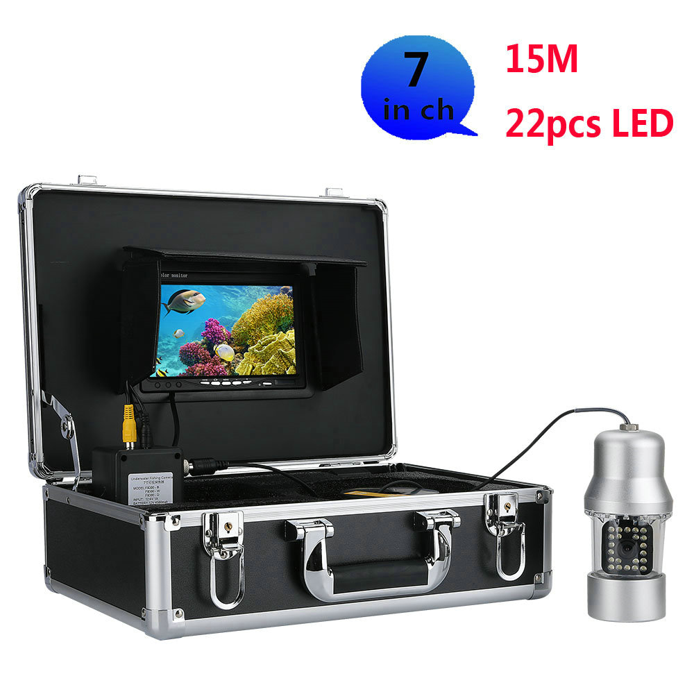 Diligent Underwater Fishing Video Camera Fish Finder 7 Inch Color Screen Waterproof 22 Leds 360 Degree Rotating Camera Special Summer Sale