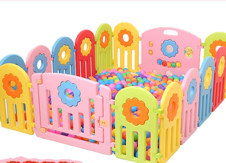 Colorful Sunflower Kids Baby Play Fence Safe Protection Space For Baby Activity Walking Game Fence Playpen цена 2017