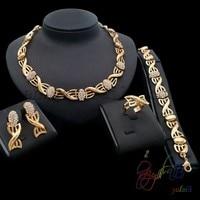 18k Gold Plated Saudi Arabia Jewelry Sets Costume African Bridal Fashion Jewellery Kundan Set