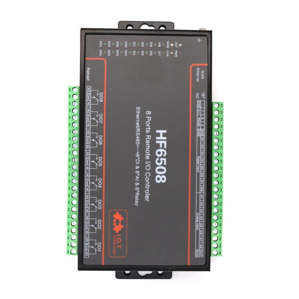 8DI 8DO 8A 8 voies i/o télécommande Ethernet/RS485 8CH relais à distance Ethernet/GPRS/WIFI relais réseau