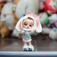 2.3CM OB11 doll shoes sheep snow boots fluffy shoes suitable for OB11 cu poche 1/12 BJD doll shoes doll accessories