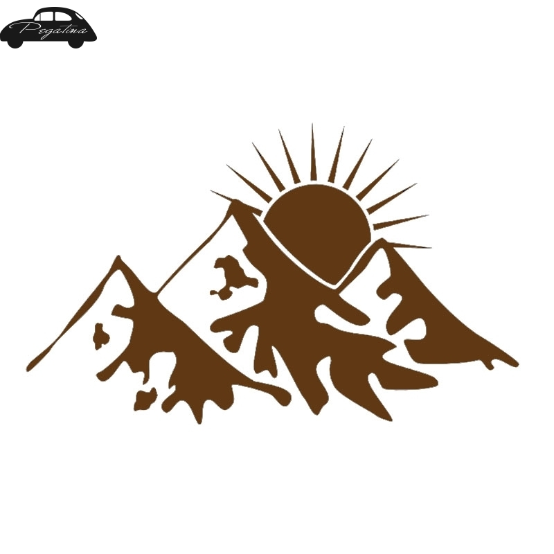 Mountain Graphic Camping Mountain for Truck Car Automotive Decal Vinyl Sticker
