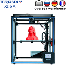 Original Tronxy X5SA 3D Printer 3.5 inches LCD Touch Screen DIY 0.4mm diameter nozzle high precision Auto leveling 330x330x400mm стоимость