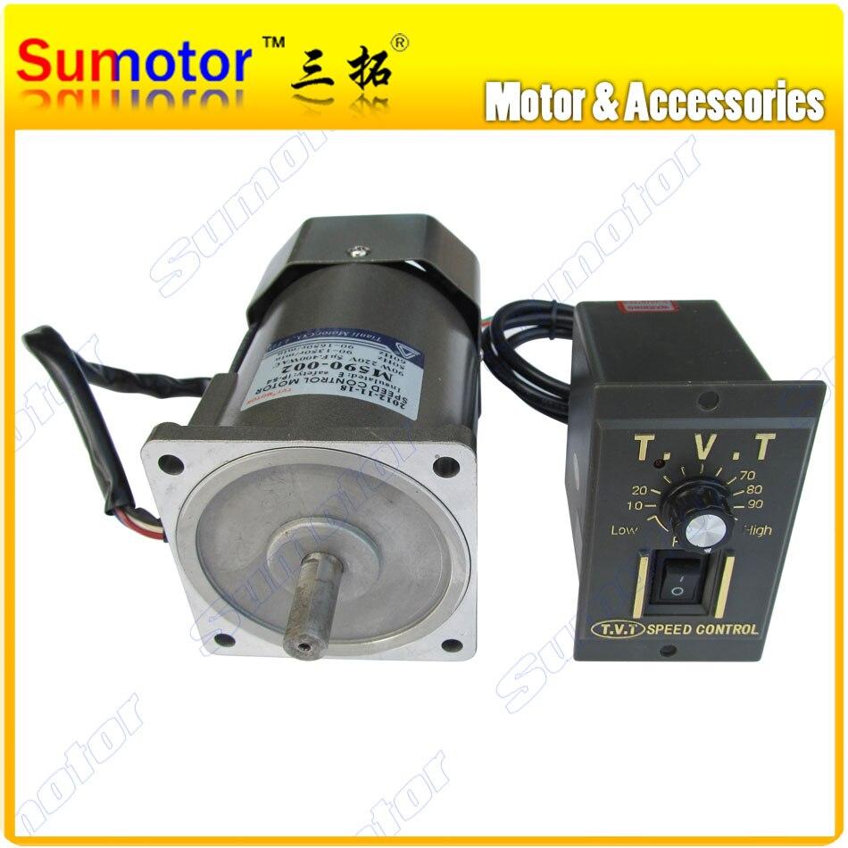 60 W 90 W AC 110 V 220 V 50/60 HZ haut régime couple élevé AC moteur électrique régulateur de vitesse CW CCW Variable pour extracteur de miel 1350 tr/min