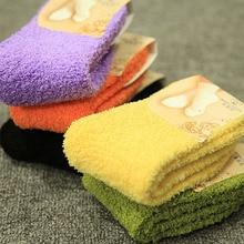 High Quality Fashion Warm Winter Women Socks Cotton&Wool Floor Elderly Female Coral Fleece Sleep Thicker for