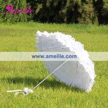 送料無料白いウェディングレース傘
