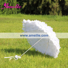 Gratis Verzending Witte Bruiloft Kant Paraplu