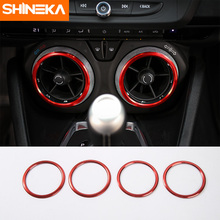 SHINEKA Car Styling Air Conditioner Vent Ring AC Trim Auto Interior Decoration for Chevrolet Camaro 2017+