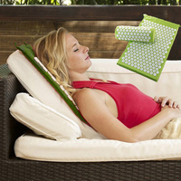 Back And Neck Pain Relief Acupressure Mat And Pillow Set Relieves Stress Back Neck And Sciatic