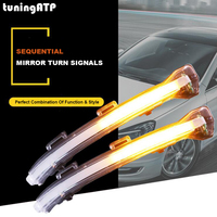 tuningATP LED Rear View Wing Mirror Sweeping Sequential Turn Signals For Volkswagen Golf 7 Golf Mk7.5 Golf Sportsvan Touran Mk2