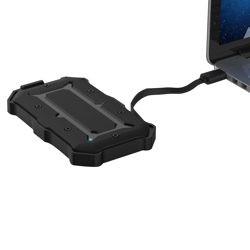Waterproof Shockproof Exteenal HDD Enclosure USB3.0+UASP SATA Universal 2.5 Inch HDD Enclosure With Cable