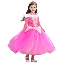 Cadeau de noël Fée Princesse Belle au Bois Dormant Aurora robe de Bal Robes Pour Les Filles Kids Party Wear Tulle Carnaval Cosplay Costumes