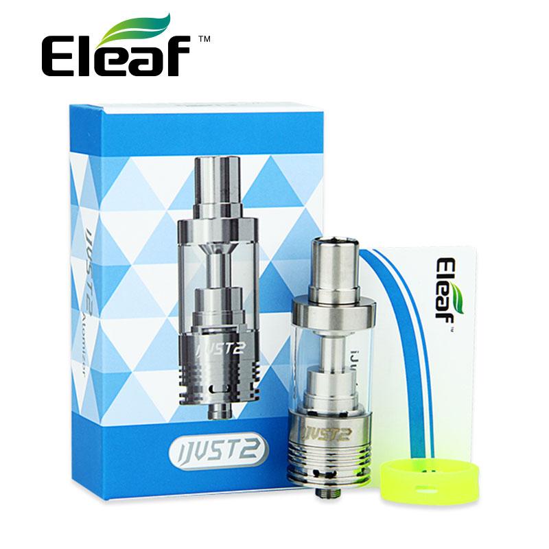 100% Originale Eleaf ijust 2 Atomizzatore 5.5 ml Capacità per iSmoka i solo 2 Kit i Just2 TC Testa e-sigarette Atomizzatore con CE