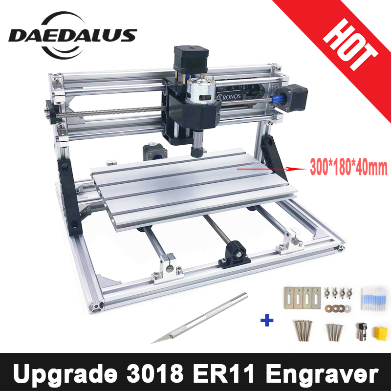 3018 CNC Engraver Laser Cutter DC Spindle Engraver Machine DIY Engraver Tool Wood Router GRBL Control For Milling Woodworking cnc engraver machine 3018 pcb milling wood router diy machine grbl control wood carving engraver with er11 spindle motor
