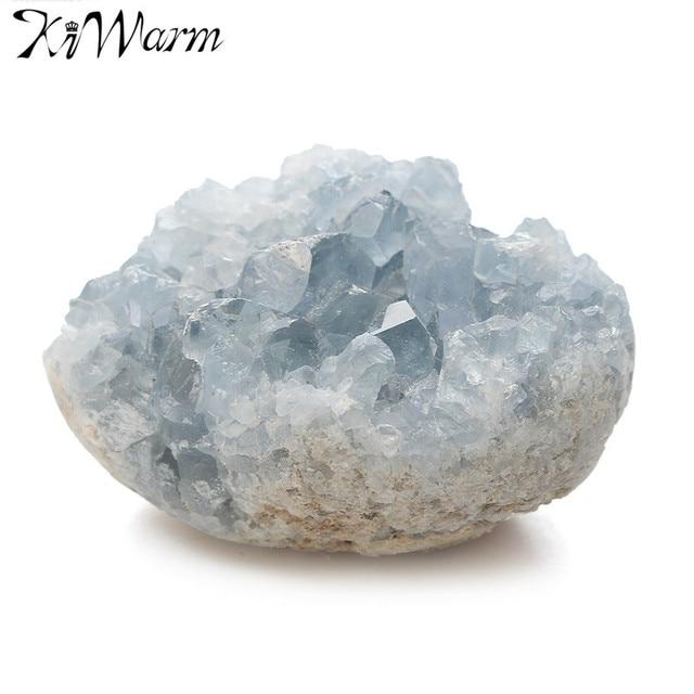 Kiwarm 1 ШТ. Большой Синий Кристалл Камень Целестин Естественного Исцеления Кристалл Драгоценный Камень Для Дома Номер Дисплей Шкаф Украшения Ремесла