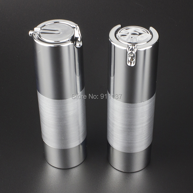 50pcs Sliver 30ml Airless Pump Packaging For Cosmetic