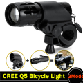 Q5 LED Bicycle Light Set 2000 Lumens LED Bike Lights Bicycle LED Light Cycling Front Head Light with Handlebar Dropshipping ZK67