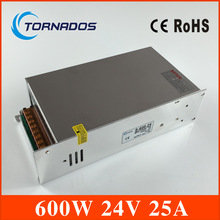 (S-600-24) low noise Industrial 24V 600W ac to dc 24v 25a power supply