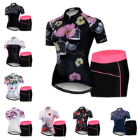 Women Cycling Jersey Gel Pad Bike Shorts Set MTB Ropa Ciclismo Summer Bicycling Maillot Wear Bicycle Skirt Pink Ropa Ciclismo