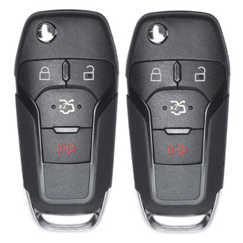 KEYECU 2 adet/grup Katlanır Çevirme Uzaktan Araba Anahtarı Fob 315 MHz ID49 Çip 4 Düğme için Ford Fusion 2013- 2016 164-R7986 N5F-A08TAA