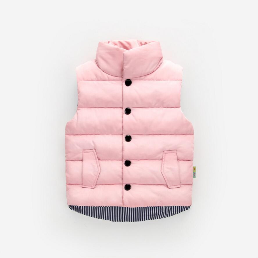 Autumn Winter Girls Casual Vest Jacket Children Outerwear Coats For Girls Vest Infant Baby Down Vest Sleeveless Kids Warm Jacket