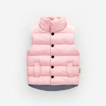 цена на Autumn Winter Girls Casual Vest Jacket Children Outerwear Coats for Girls Vest Infant Baby Down Vest Sleeveless Kids Warm Jacket