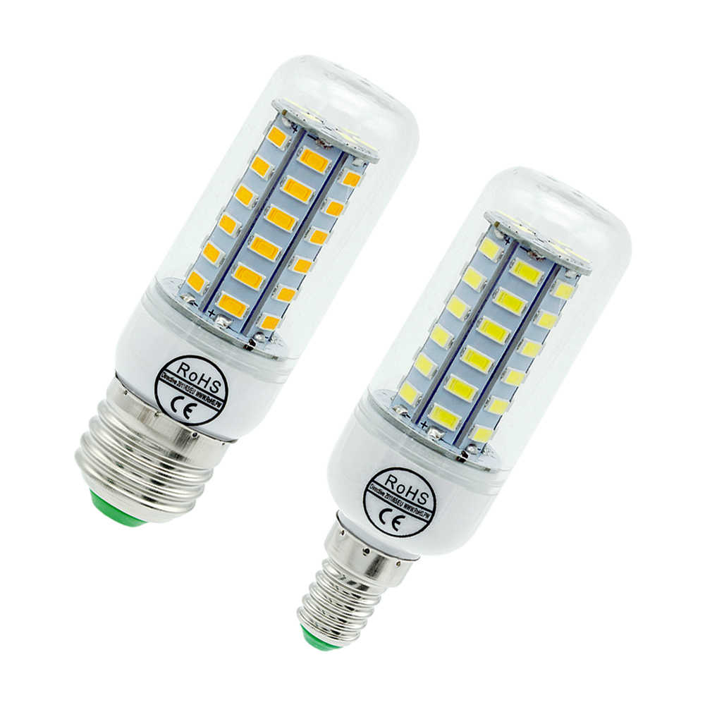 1pcs E27 LED Lamp E14 LED Corn Bulb SMD 5730 220V 24 36 48 56 69 72LEDs Chandelier Candle Light For Home Lighting Decoration