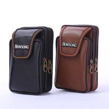 BISI GORO Multi-function phone coin men waist bag vintage on the belt outdoor small wallet 2019 Wear-resistant PU heuptas heren